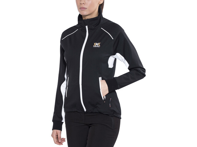 X-Bionic Cross Country SphereWind Light Jacket Damen black/white